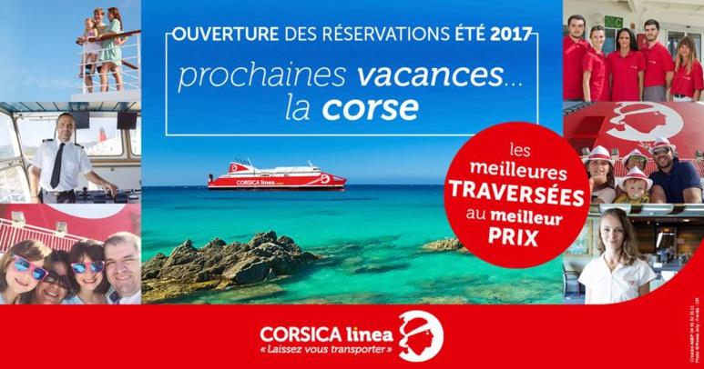 Réservation CorsicaLinea 2017