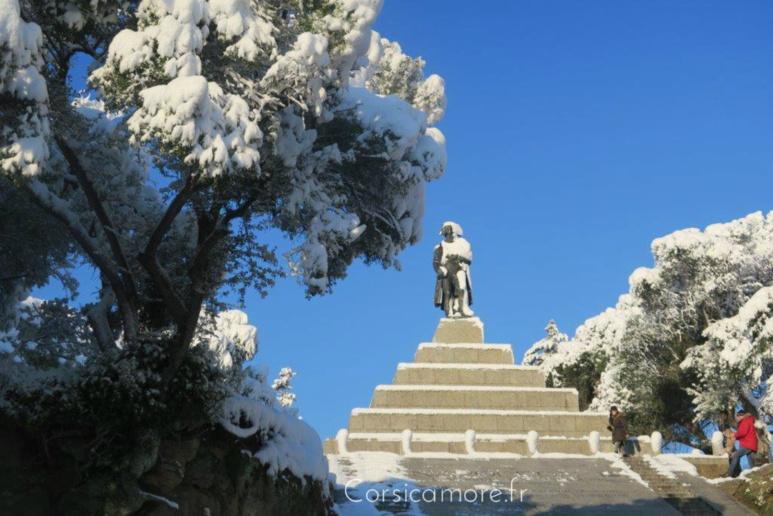 Le Casone et Napoléon sous la neige