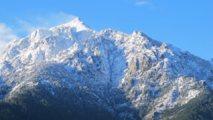 La neige arrive en Corse
