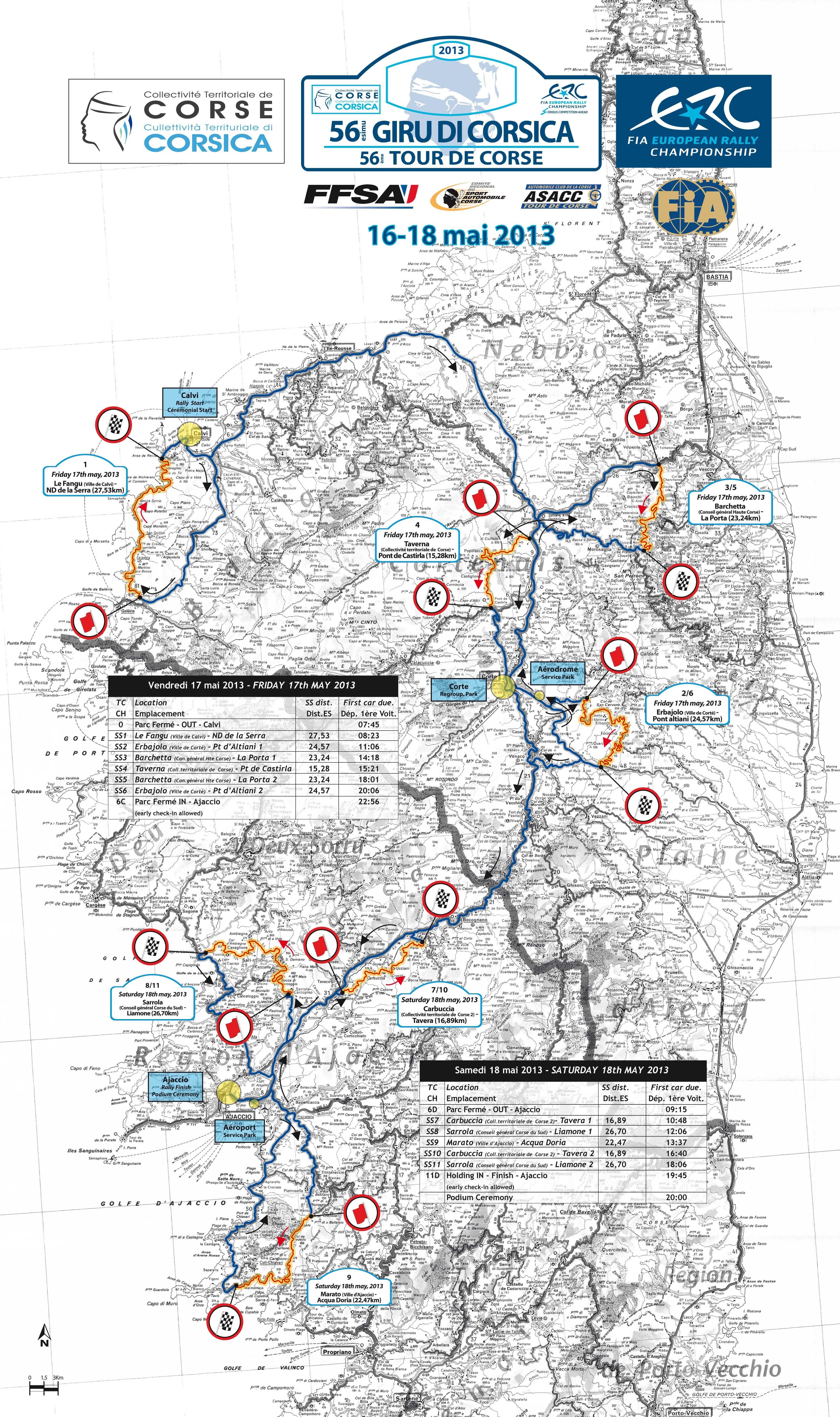 Du 16 au 18 mai, le 56 eme Giru di Corsica