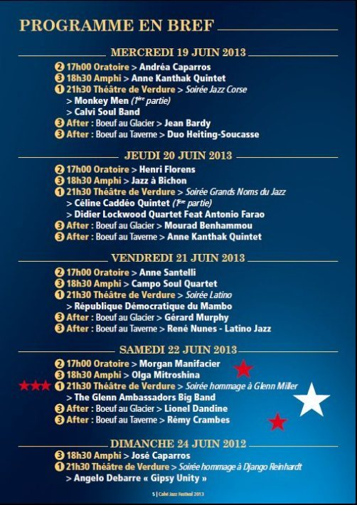 Calvi Jazz Festival 2013