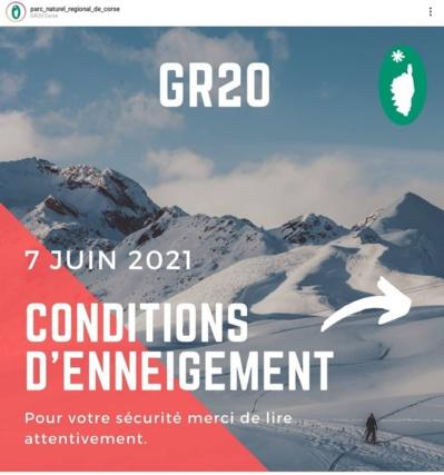 Niveau d'enneigement record sur le GR 20 en juin