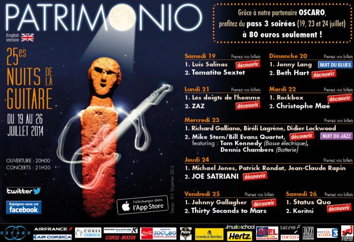 25 eme nuits de la guitare à Patrimonio