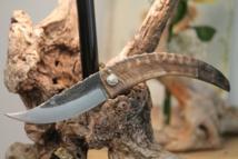 Le couteau pliant en corne de bélier