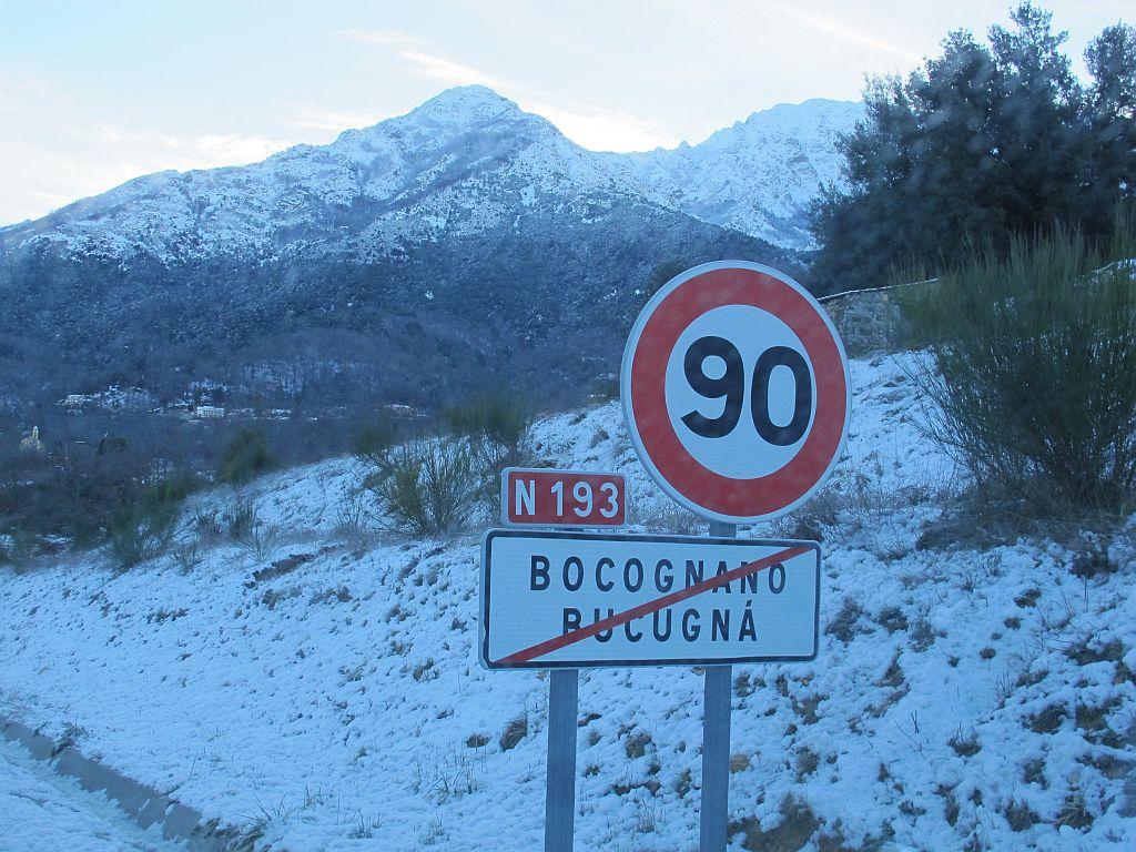 Le retour de la neige en Corse ©corsicamore