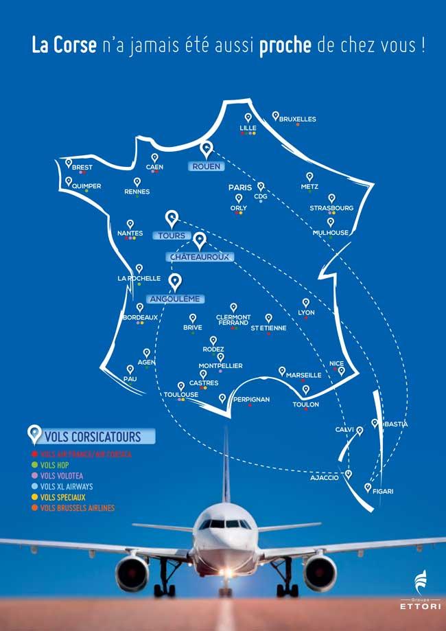 Les vols 2015 par Corsicatours