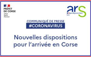 Les nouvelles dispositions pour entrer en Corse - Pass Sanitaire