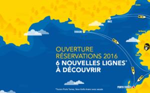 Nouvelles lignes Corsica Ferries en 2016